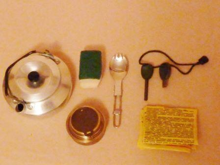 trangia kettle and contents